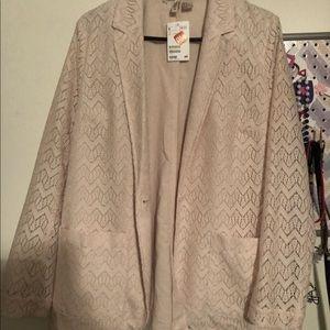 Light Pink Lace blazer